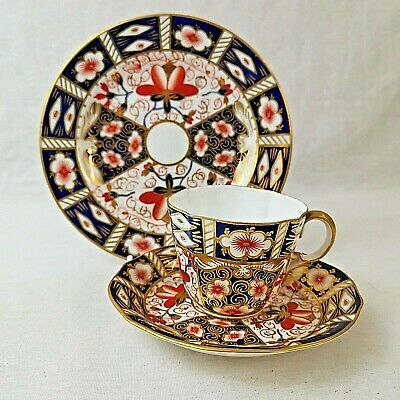 Royal Crown Derby 2451 Imari Tea Trio Cup Saucer Plate Antique 19th Century • 35£
