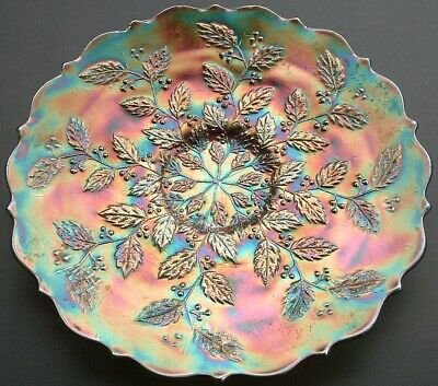 Vintage Carnival Glass Low Plate • 19.99£