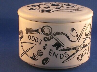 Vintage SYLVAC ODDS & ENDS Jar With Lid. • 19.99£