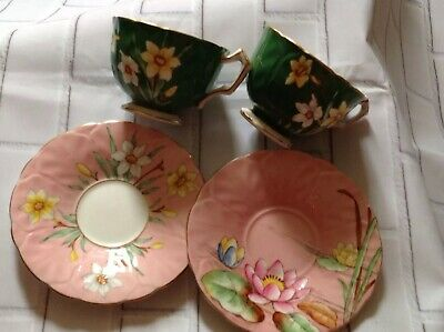 Aynsley Bone China Thistle Pattern Tea Cup And Saucer • 50£