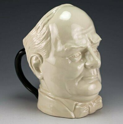 Peggy Davies / Kevin Francis Rare Sir Winston Churchill Twin Handled Toby Jug • 95£