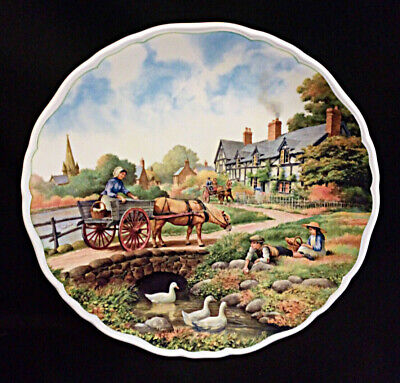 Royal Doulton Village Life By Anthony Forster Waters Edge Collectors Plate • 3.50£