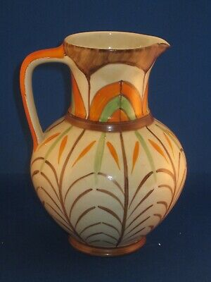 Myott Art Deco Jug 18cm High Hand Painted. • 45£