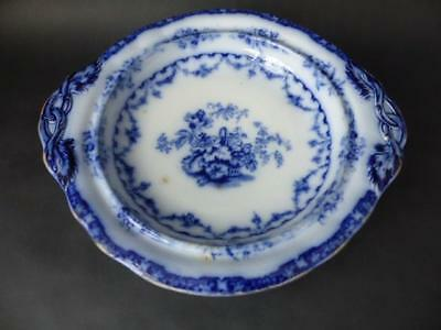 Antique Flow Blue Footed Compote - Charles Meigh C 1835, Ionic Pattern • 49.99£