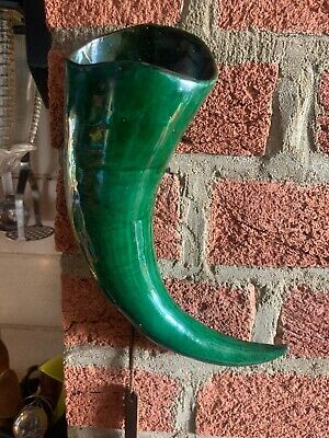 Lovely Brannam Horn Shaped Wall Pocket Signed And Dated For 1899. Perfect !! • 45£