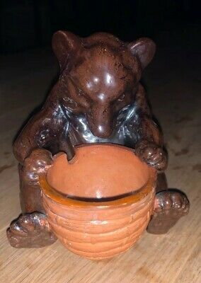 Doulton Honey Bear With Beehive Basket Condiment. Attributed To Mark V Marshall • 395£