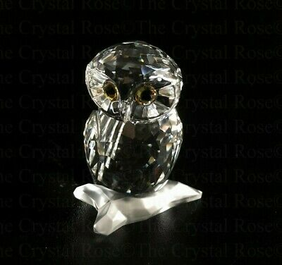 RARE Retired Swarovski Crystal Small Owl 1003319 Feathered Beauties Mint Boxed • 40£