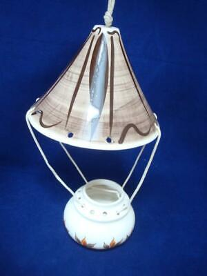 Jersey Pottery Vintage Original Hanging Candle Burner And Shade . • 15£