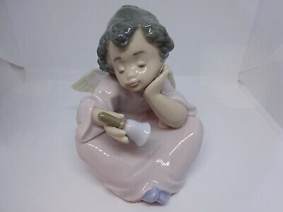 Small Ladro Figure Angel With Bell In Hand • 22£