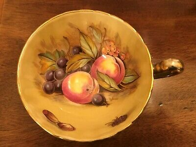 Aynsley Orchard Gold Turquoise Blue Fluted Cup Signed By D Jones • 2.99£