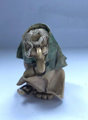 Quirky Old Witch / Ugly Face  Art Pottery • 6.50£
