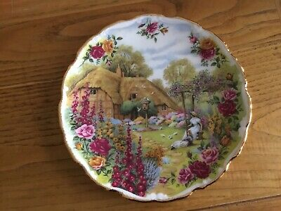 Royal Albert England Old Country Roses Tranquil Garden Plate Ornamental Wall  Af • 3.60£