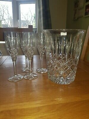 Royal Doulton Decanter Set, Champagne Bucket And Flutes. Used Once.  • 25£