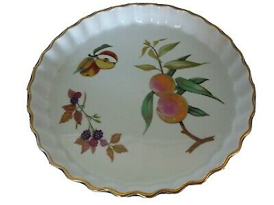 Royal Worcester Evesham Fluted Flan Dish 10 Inches • 2£