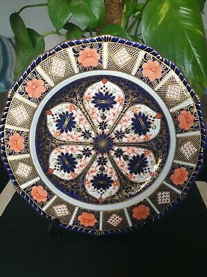 %% Stunning %% Royal Crown Derby Imari 1128 Fluted 9  Cabinet Plate. 1st Quality • 13.75£