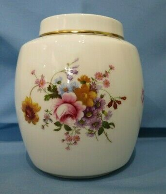 Vintage English Porcelain Royal Crown Derby Posies 18cm Ginger Jar~1st Quality • 30£