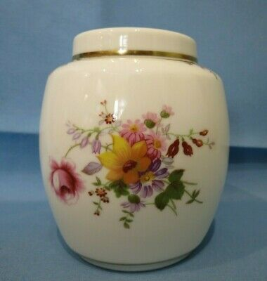 Vintage English Porcelain Royal Crown Derby Posies 11.5cm Ginger Jar~1st Quality • 17£
