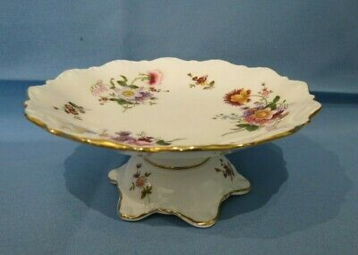 Vintage Eng Porcelain Royal Crown Derby Posies Raised Pedestal Pin/bonbon Dish • 22£
