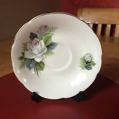 Royal Sutherland White Rose Fine Bone China 14 Cm Saucer - Replacement • 2.50£