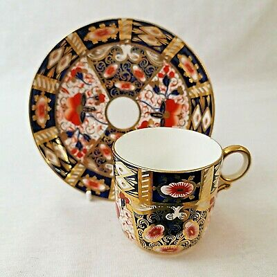 Davenport Imari Coffee Can And Saucer Pattern Number 2614 Antique  • 30£