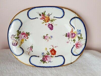 19th Century Derby Factory Floral Bouquet Deco Plate • 16.99£