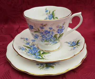 Royal Albert  Forget Me Not   Trio Tea Cup Saucer & Side Plate ***Immaculate*** • 5.99£