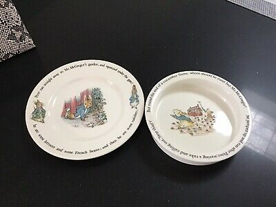 Wedgwood Peter Rabbit  Bowl And Plate • 9£