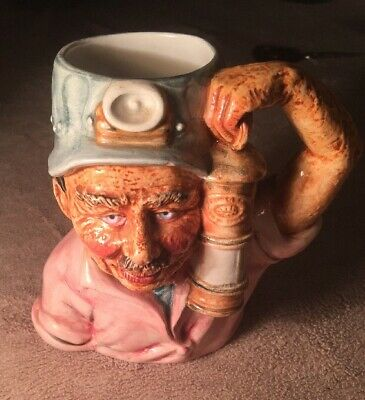 Vintage  Miner With Lamp Character Jug  • 12£