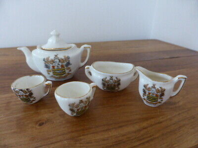 Crested Gemma Ware Blackpool Miniature Tea Set, Vgc • 12.99£