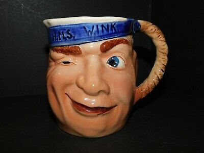 BESWICK H.M.S. WINK No.736 ROYAL NAVY SAILOR CHARACTER JUG • 34.99£