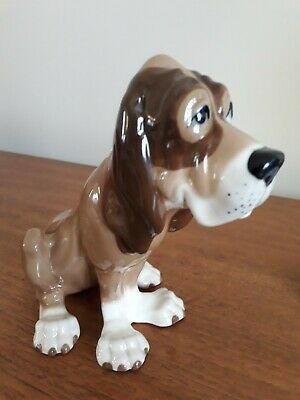Szeiler Pottery Bloodhound Dog, 50s 60s Retro Vintage Porcelain Dog • 12.95£