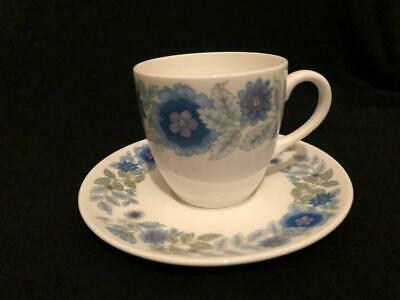 6 X Wedgwood Clementine Coffee  Cups / Demi-tasses And Saucers Vgc • 12.50£