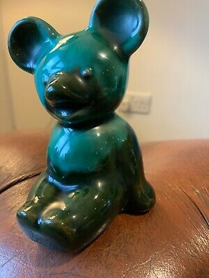 Canuck Pottery  Sitting Bear Made In Canada, Includes Uk Postage. • 18£