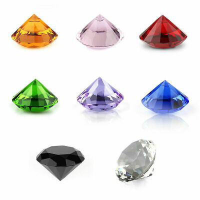 New 20-80mm Crystal Paperweight Cut Glass Giant Diamond Shape Jewel Decor Gift • 2.59£