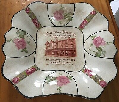 1872-1922 Pottery Plate Rawtenstall Conservative Industrial Co-op Soc Lancashire • 11.77£