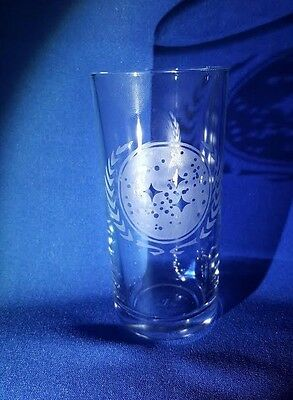 STAR TREK FEDERATION OF PLANETS BADGE Etched On A Half Pint Glass • 9£