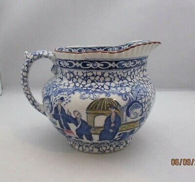 William Adams Chinese Bird With Colour Jug Pitcher • 20£