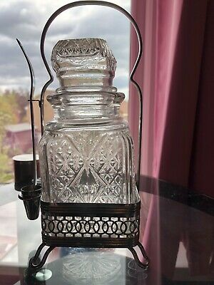 Condiment Decanter With Spoon And Holder • 1.20£