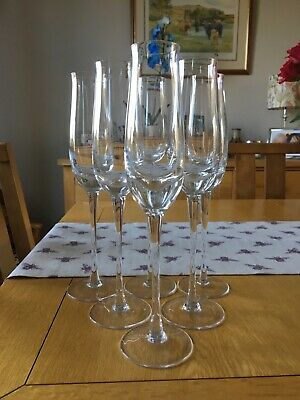 6 Denby Champagne Flutes. All In Good Condition. Hardly Ever Used. 27cm Tall. • 20£