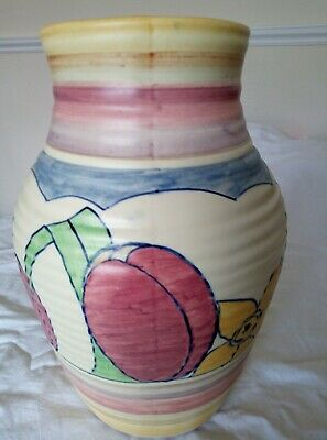 Rare Clarice Cliff Large Lamp Base Bizarre Period 'gloria' Pattern 29 Cms High • 275£