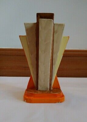 Art Deco Myott Pyramid Geometric Hand Painted Vase 1930s Great Condition  • 85£