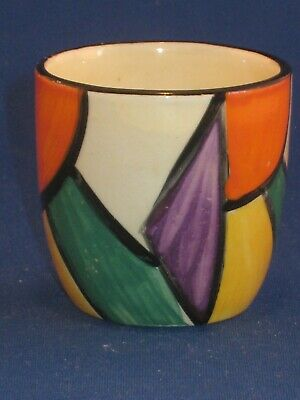 Clarice Cliff Geometric Egg Cup Beautiful Condition. • 75£