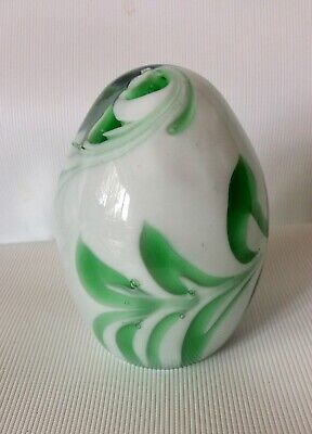 Vintage Teardrop Egg Shape Glass Paperweight 3.5 Inch Tall • 1.99£