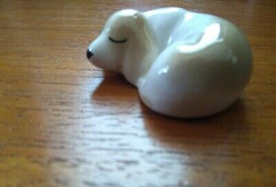Vintage Szeiler Curled Up Cute Small Sleeping Dog Ornament Figurine  • 2£