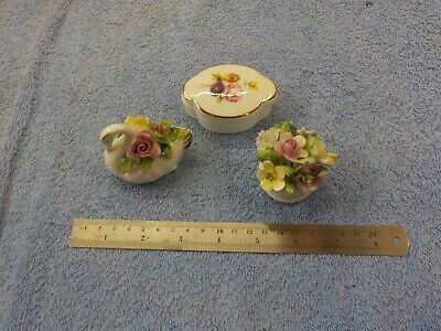 Royal Adderley China Floral 3 Pieces • 15£