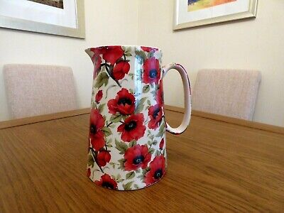 Herons Cross Pottery Staffodshire England  Large Poppy Jug • 25£