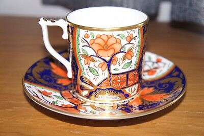 Royal Crown Derby, Curators Collection Coffee Can & Saucer - Pardoe Design • 24.99£