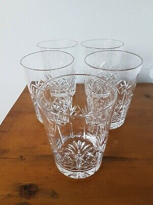 Vintage Crystal Tumblers Glasses X 5 Set  • 12.99£