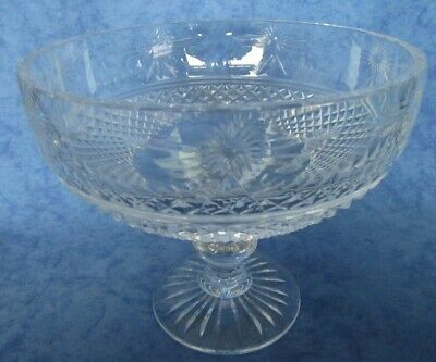 Stuart Crystal Beaconsfield Large Footed Bowl. 8  Rim Dia. • 94.50£
