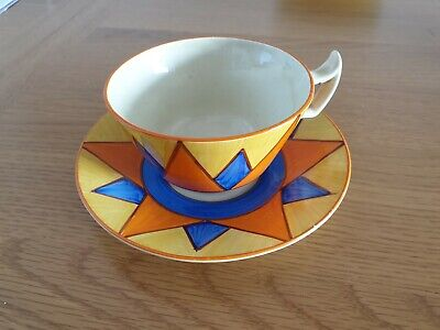Clarice Cliff Cup And Saucer • 49.99£
